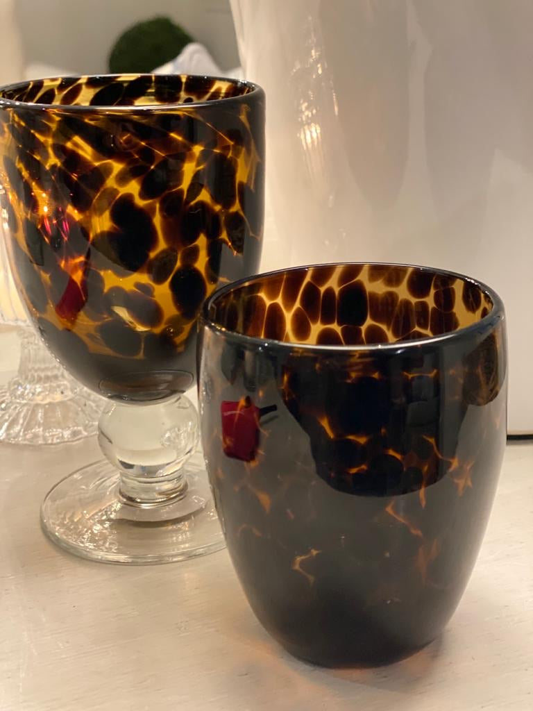 Floricia Brown Stemmed Glass