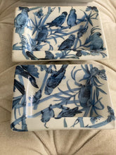 Load image into Gallery viewer, Blue Parrot Trays set of 3