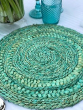 Load image into Gallery viewer, Turquoise Woven Placemat (38cm)