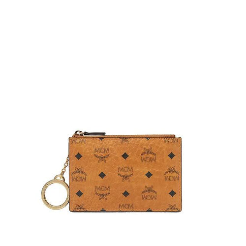 MCM Key Pouch in Original Visetos