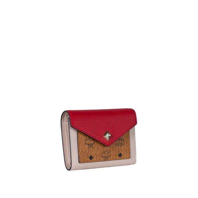 Trifold Letter of Love Colorblock Wallet in Visetos