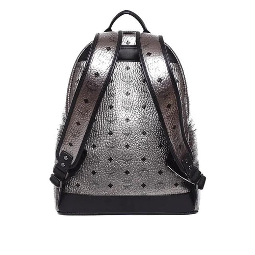 Dual Stark Cyber Flash Backpack in Silver Visetos