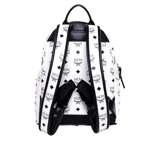 Dual Stark Cyber Flash Backpack in White Visetos