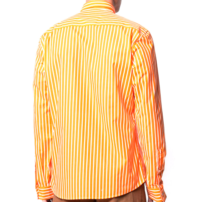 Striped Logo Print LS