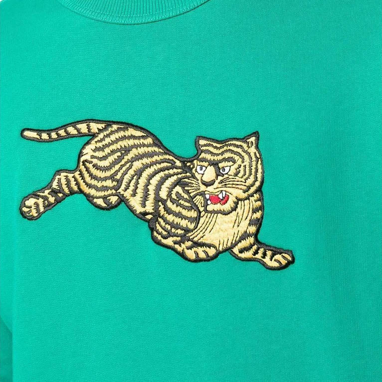 Jumping Tiger Sweatshirt in Green