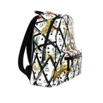 Stark Motif Rombi Backpack in White