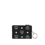 Key Pouch with White Logo in Visetos