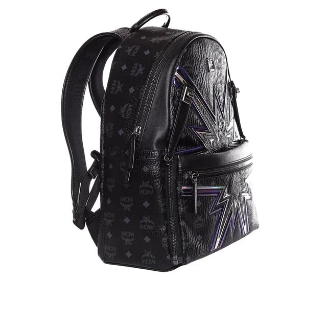 Dual Stark Cyber Flash Backpack in Black Visetos