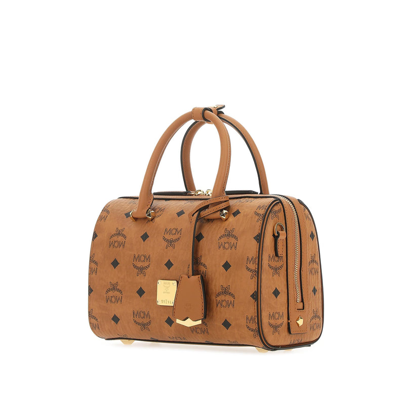 Essential Boston Bag in Cognac Visetos