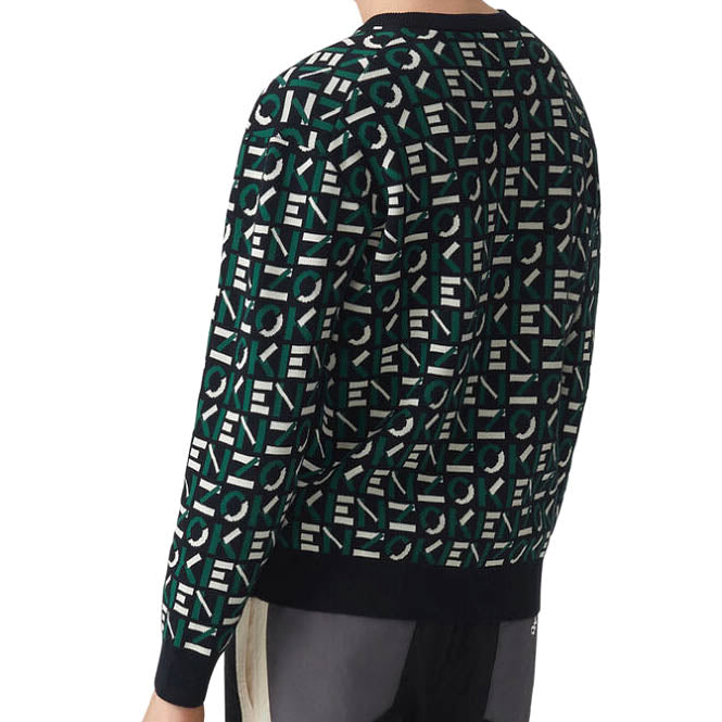 Jacquard Monogram Jumper Sweater