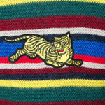 Multicolor Jumping Tiger Knit Striped Sweater