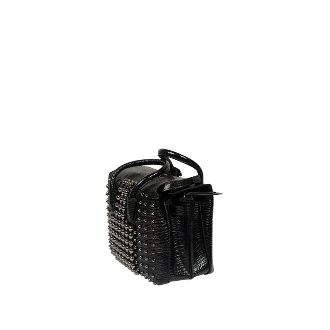 MCM Milla Pearl Studs Tote X Mini in Black