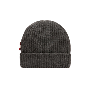 Bally Men's Cashmere Ribbed Beanie Hat