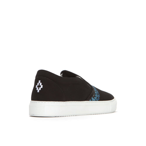 Marcelo Burlon Wings Slip-On Men's Sneakers Black