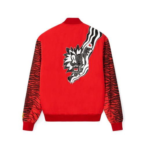Kenzo Paris X Kansaiyamamoto Tiger Men's Red Bomber Jacket