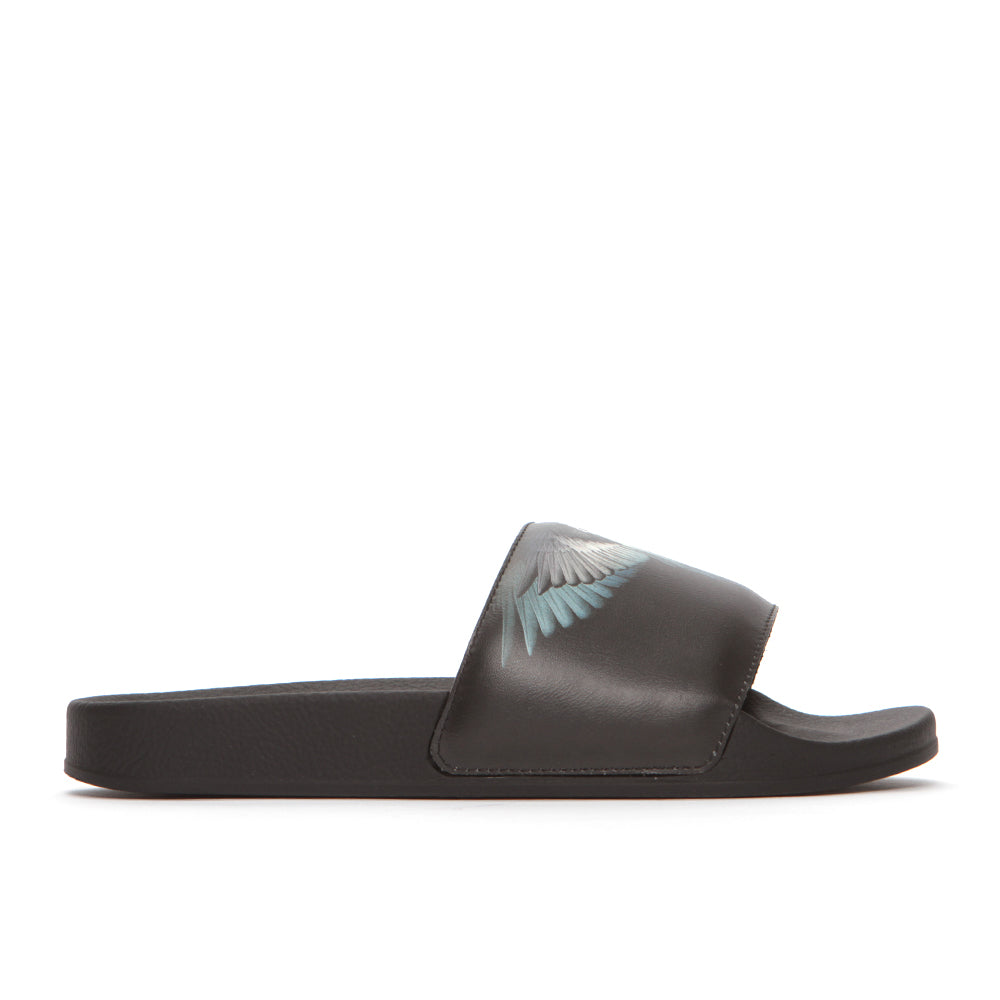 Marcelo Burlon Wings Men's Leather Slides