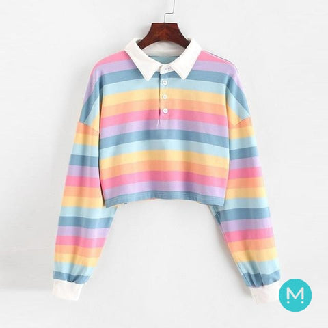 Rainbow Polo Sweatshirt - Momospirit