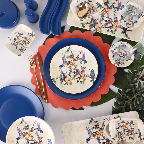 Breakfast Dishes Set 37 Pieces - Fairy Bird model