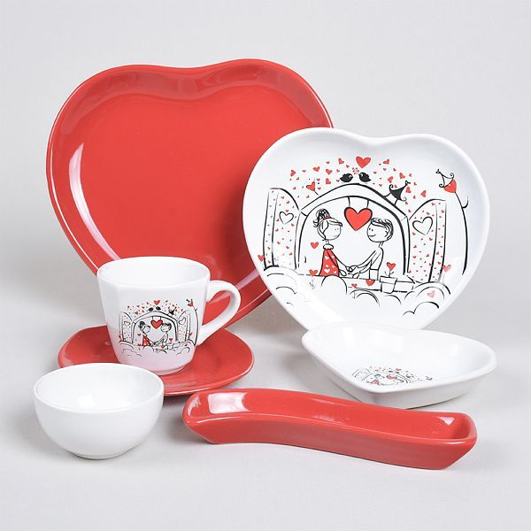Breakfast Dishes Set 14 Pieces -   Keyfi Ask model - keblyhome