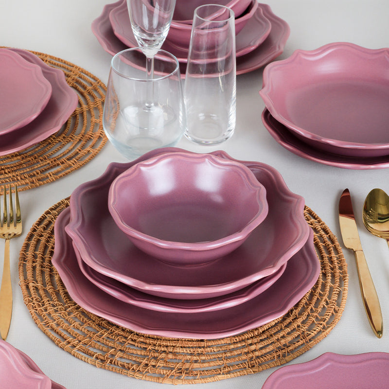 Food Dishes Set 48 Pieces - Romeo Mat Violet model