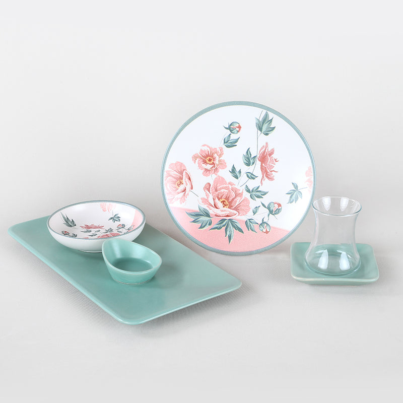 Breakfast Dishes Set 21 Pieces - Rosetta model