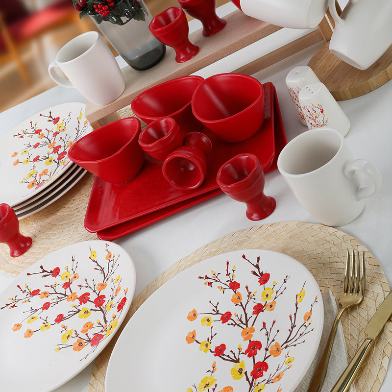 Breakfast Dishes Set 28 Pieces - Sonbahar model