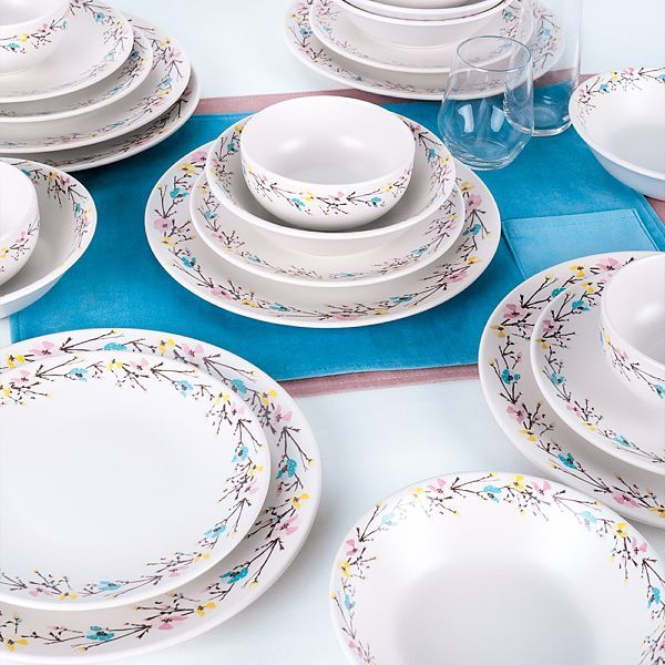 Food Dishes Set 24 Pieces - Tomurcuk  model - keblyhome