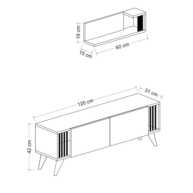 Tv Unit - Negro model - keblyhome