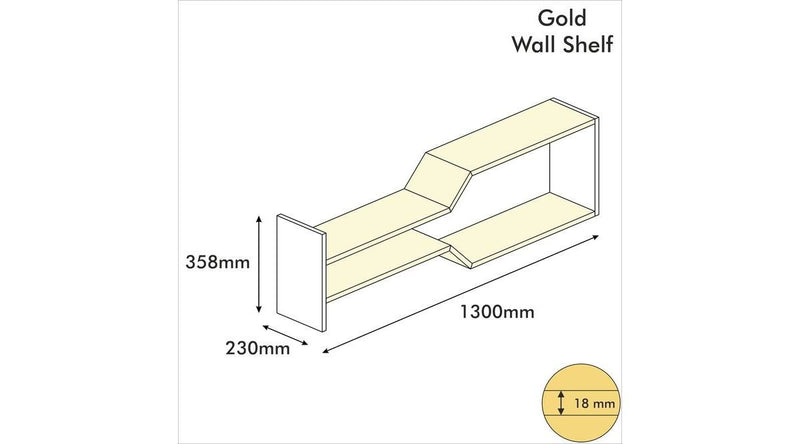 Wall Shelves - Gold Model