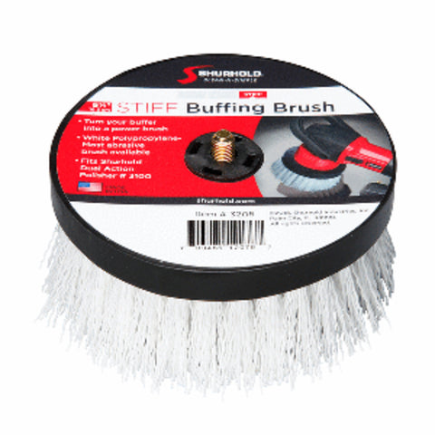 "Shurhold 6- and #189;"" Stiff Brush f/Dual Action Polisher"