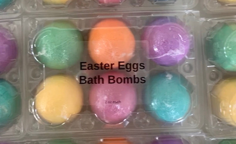 Easter Egg Carton - bath bombs