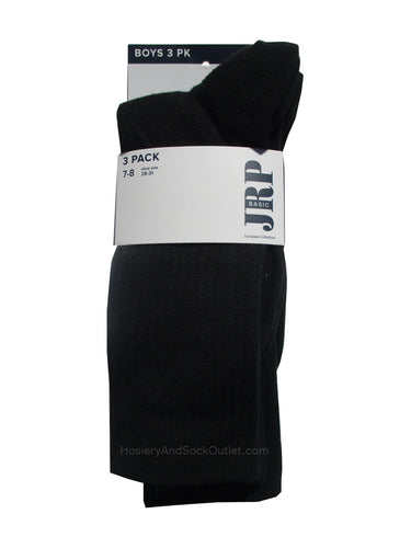 JRP Boys Ribbed 3 pack of Mid-Calf Socks