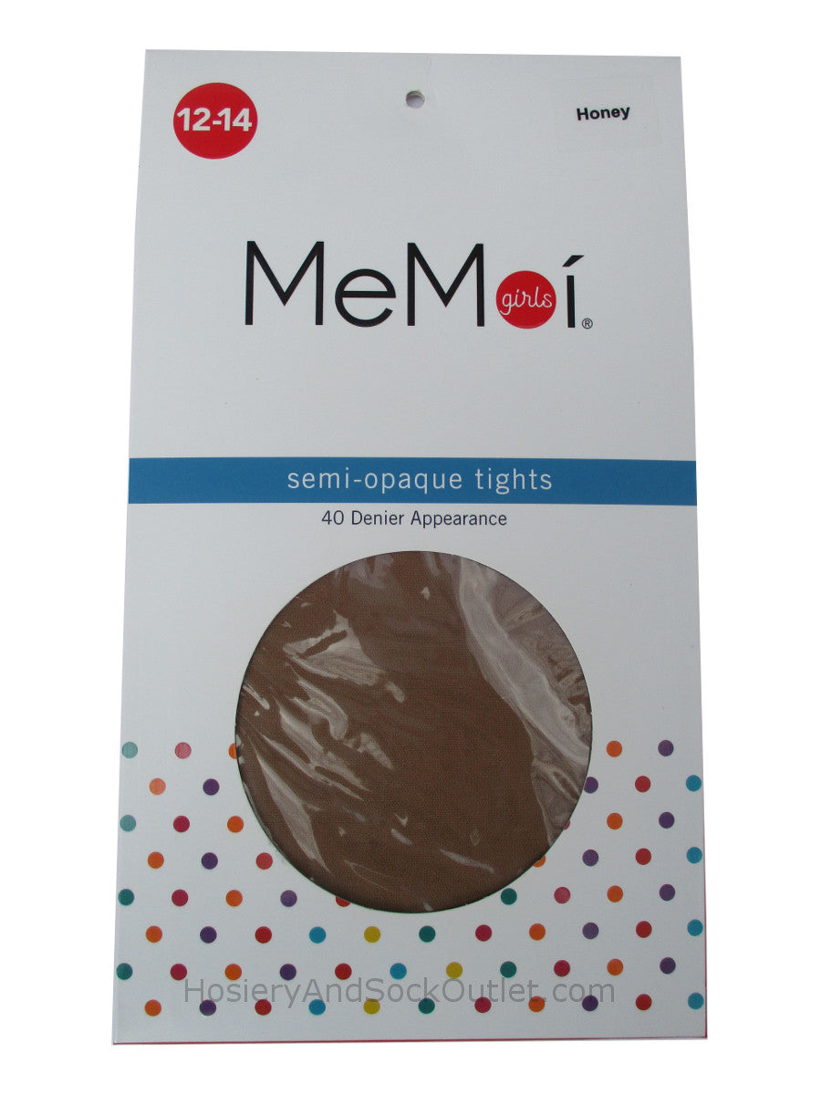 Memoi Girls Semi-Opaque Pantyhose, Model MK-305