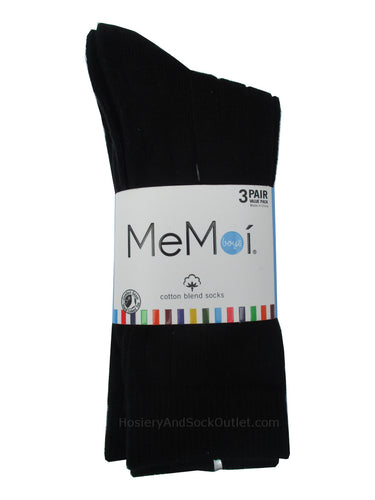 Memoi Boys Ribbed 3 Pack of Mid-Calf Socks