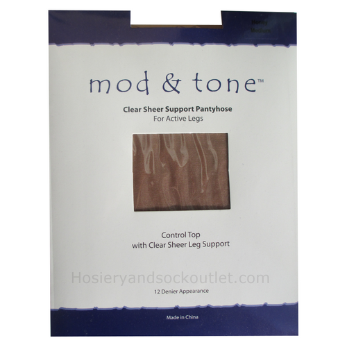 Mod & Tone Clear Sheer Support Pantyhose