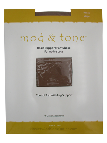 Mod & Tone Basic Support Pantyhose