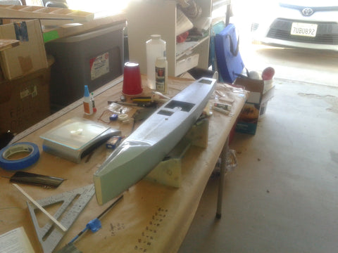 Prepping RC Yacht for paint
