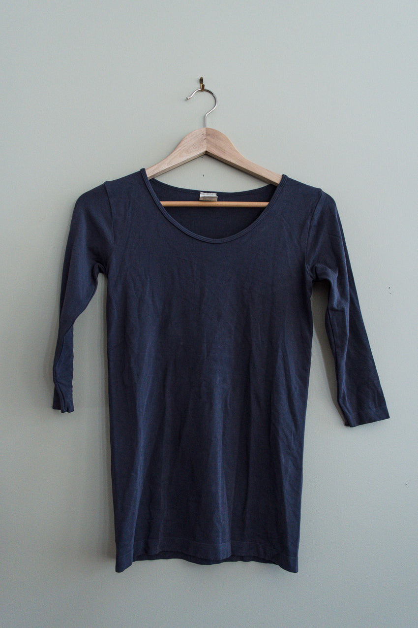 bamboo 3/4 sleeve top