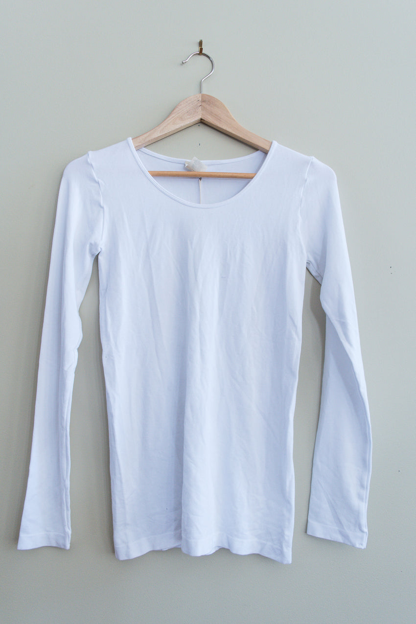 Bamboo Scoop neck long sleeve