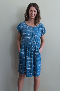 Distressed Pattern Dress