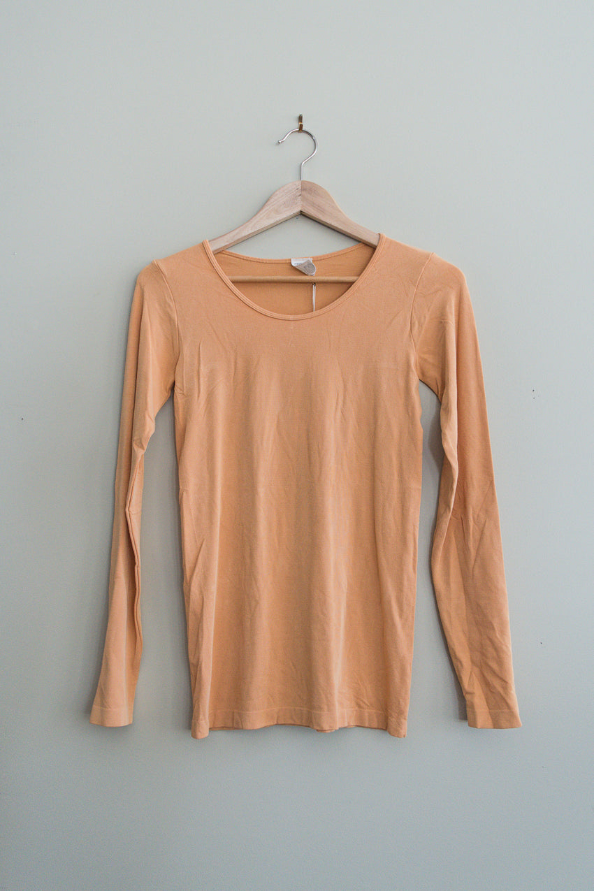 bamboo scoop neck top
