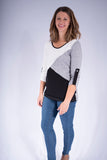 light weight color block sweater