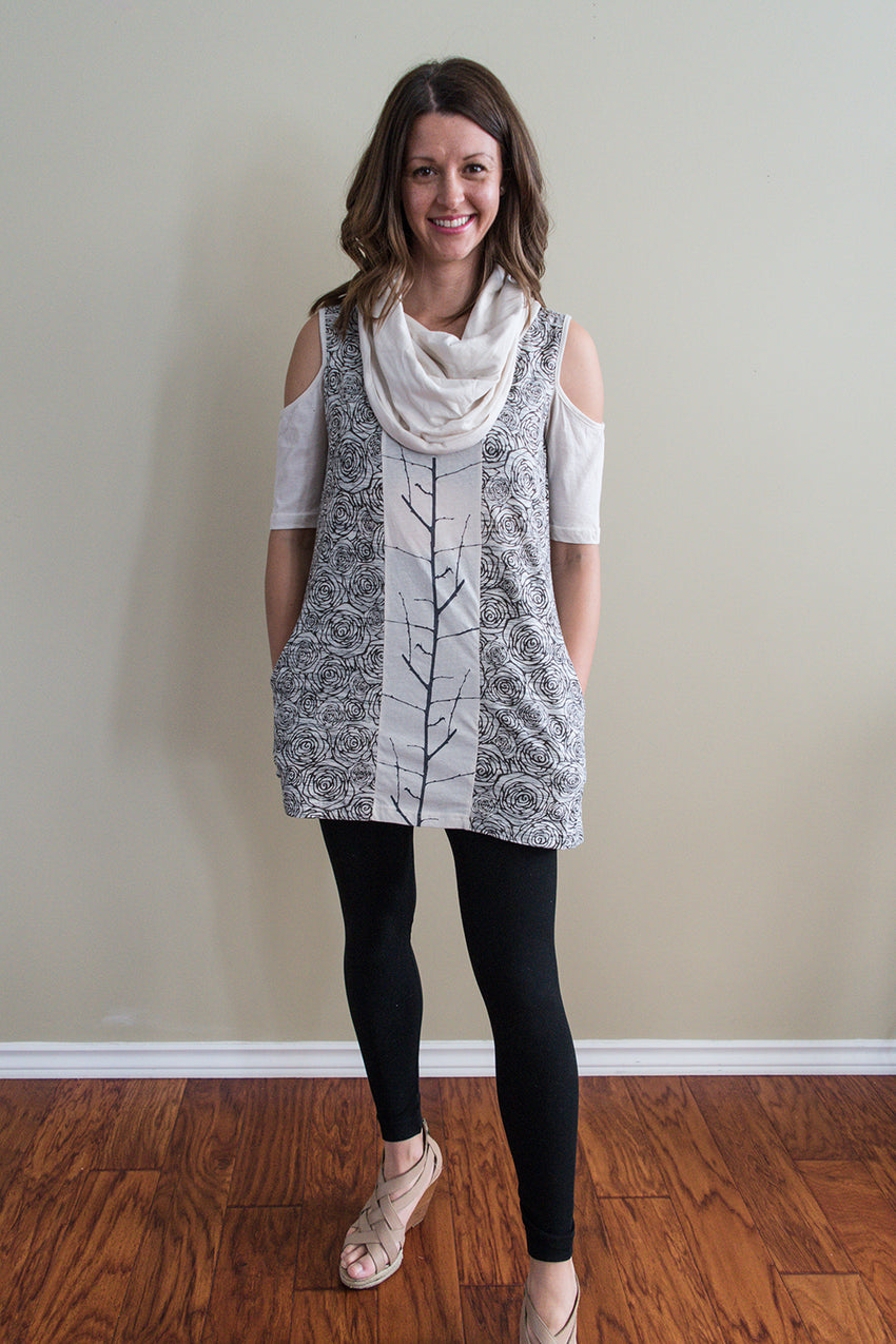 Cowl Neck Tree Dress