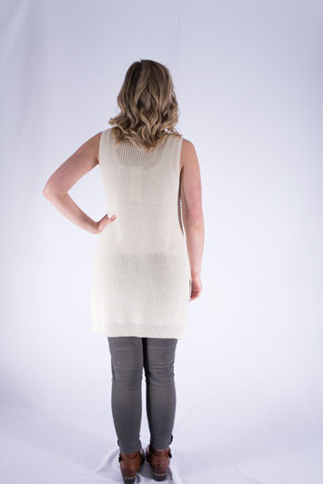 Side Split Sweater Tank