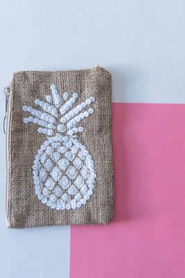 Small Pineapple Cosmetic Bag