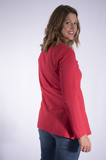 bias cut tunic top