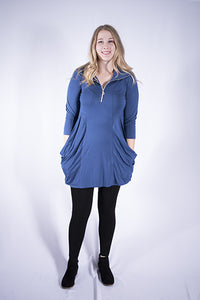 Stretch tunic with pockets