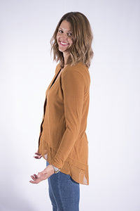 Georgette Layer Hem Cardigan