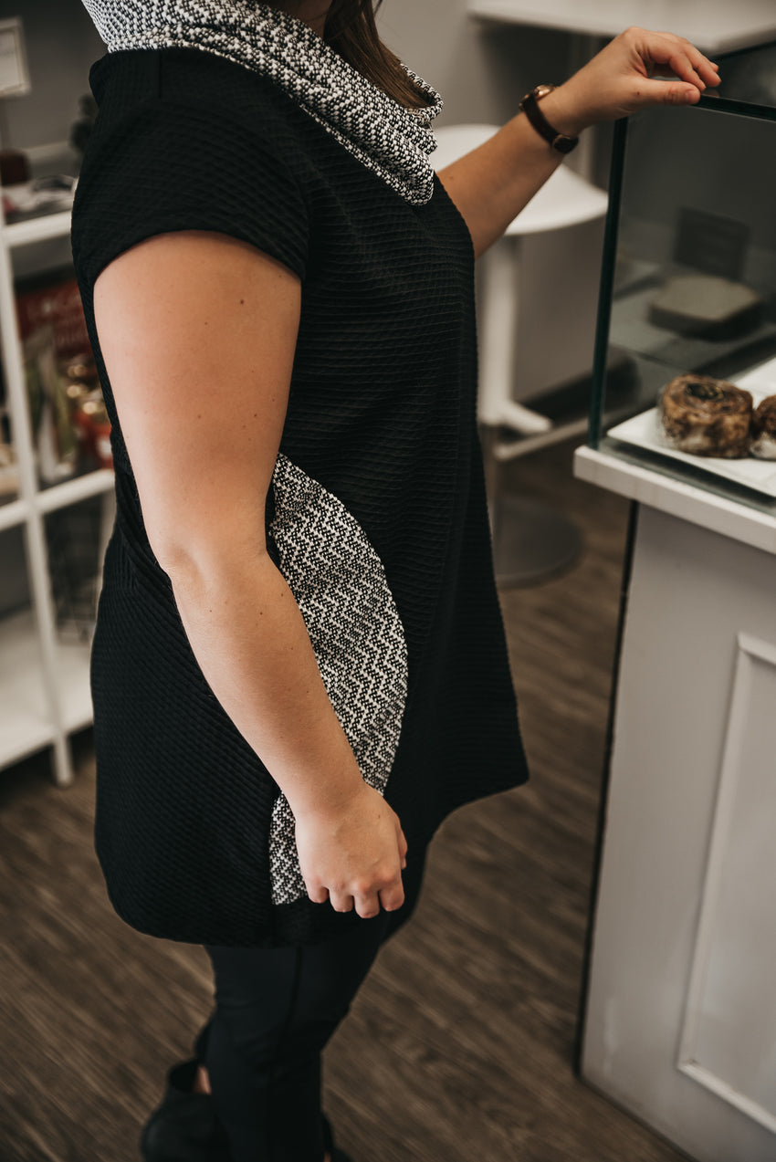 knit tunic with pockets