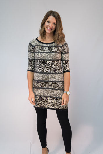 Animal Stripe Dress